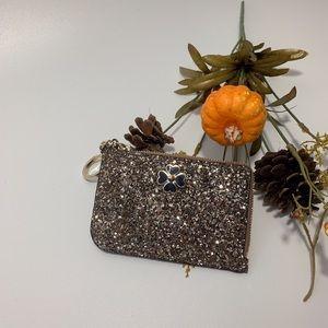 ❗️NEW Kate Spade Odette Glitter Med 1-Zip Cardcase